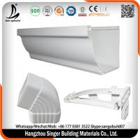 Buy cheap Guangzhou factory white 5.2 inch 7 inch PVC Rain Gutter and downpipe fittings, Plastic rainwater gutters price from wholesalers