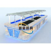 Buy cheap Yellow LED Commercial Buffet Equipment Granite Marble Tops Overhead Crystal from wholesalers