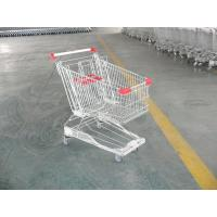Custom  Wire Shopping Carts Trolley with 4 x 5 inch swivel flat TPE casters