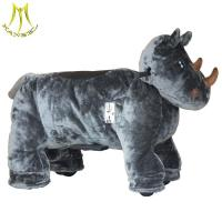 Buy cheap Hansel ride on animal toy ride and plush motorized animals for mall with child horse toy model for sale from wholesalers