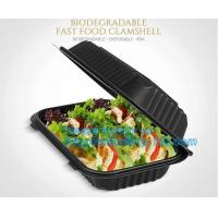 Buy cheap Wholesale 24oz Disposable Bagasse Biodegradable Corn Starch Takeaway Food Container With Lid, bagease, bagplastics pack from wholesalers