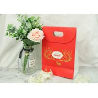 Buy cheap Merry Christmas Eco Craft Bags With Logo And Cutting Handle Smooth Feel from wholesalers