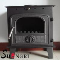 Wholesale 6KW wood casting iron stoves forest paint surface from china suppliers