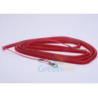 Wholesale Elastic Fishing Boat Kayak Paddle Leash Red Safety With 2 Quick Release Snaps from china suppliers