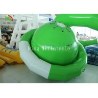 Buy cheap Green / White UFO Shape PVC Tarpaulin Inflatable Floating Saturn Water Toy For Climbing from wholesalers