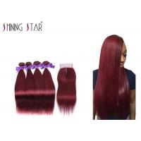 Buy cheap Swiss Lace Burgundy 4 Bundles Of Human Hair For Girls And Ladies Red 99J from wholesalers