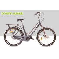 Buy cheap City Mid Motor Electric Bike 250W 26 Inch Wheel EN15194 25Km / H Disc Brake For Front from wholesalers