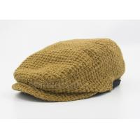 Buy cheap Brown Peaked Duck Bill Knitting Wool Hat Winter For Lady , Cotton Lining from wholesalers