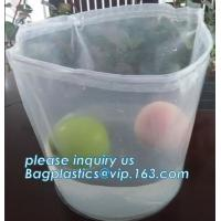 Buy cheap Plastic Heavy Duty Plastic Bags Square Bottom Inner Drum Rubbish Bin Liner from wholesalers