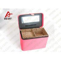 Buy cheap Leopard Printed Cosmetics Foldable Paper Box With Mirror Matte Lamination Suface from wholesalers