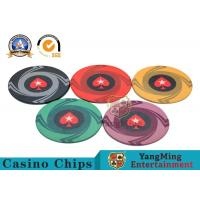 Wholesale Round Plastic Ceramic Blank Casino Poker Chips Sets , Colorful Polyspectra Chip from china suppliers