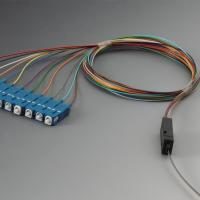 Buy cheap LC UPC Multimode Om3 Pigtail Ribbon Fanouit Kits 850nm Wavelength 0.9mm OD from wholesalers