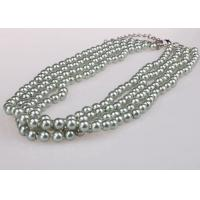 Buy cheap Beautiful Four Strand Costume Pearl Necklace , Chunky Faux Pearl Necklace from wholesalers