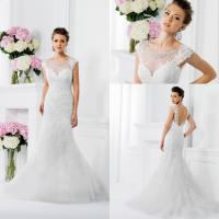 Wholesale Tulle Mermaid Vintage Inspired Wedding Dresses Lace Crystal Applique from china suppliers