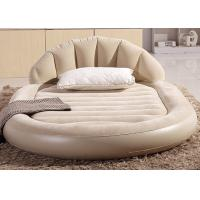 Buy cheap Low Round Inflatable Air Mattress King Size Flocked PVC Material 13 . 6KG G . W . from wholesalers