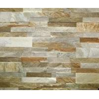 Buy cheap Golden Yellow Quartzite Culture Stone 60*15 55*15 35*18 P014 Quartzite Stacked Stone from wholesalers