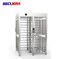 Buy cheap Automatic pedestrian waist high 304 stainless steel swing turnstile with RFID card/fingerprint reader from wholesalers