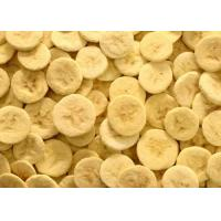 China 100% Pure Organic Freeze Dried Bananas Fruit Slice 5 - 7mm A Long Shelf Life on sale