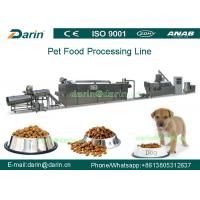 China 150kg/h - 500kg/h Dry pet dog food making machine for Wheat , rice , corn on sale