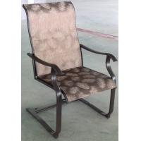 China Outdoor Patio Plastic Garden Furniture Stackable Plastic Chairs With Steel Frame on sale