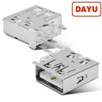 Buy cheap SMT 90 Angle Mini USB Connector , Usb 2.0 Female Connector Solder Type from wholesalers