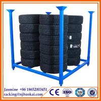 Buy cheap 60'' x 60''  Metal Tire Storage Collapsible Stacking  Rack from wholesalers