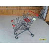 Buy cheap 80L Grocery Pull Cart For Boutique Supermarket  With Baby Seat , Grocery Shopping Cart from wholesalers