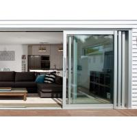 China Commercial Aluminium Doors Stacking Sliding Glass Doors With Top Brand Accessory on sale