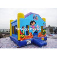 Buy cheap Inflatable Dora House Bouncer Combo , Commercial Jumping Castles for Rent / Hire from wholesalers