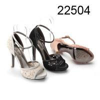 Buy cheap Lace Fabric Womens Strappy Sandals With Ankle Strip Black, White, Pink from wholesalers