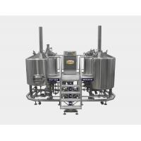 Direct Fired 20 BBL Brewhouse , Pub Beer Brewery Equipment With Two Tanks Manufactures