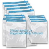 Buy cheap Clear Stand Up Zip Bags , Vacuum Space Bag Hanger Bedding For Home Storage Pacrite from wholesalers