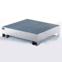 Buy cheap ZOYET Drum IBC tank storage Spill Containment Pallets , Pallet Containment Tray For Spilled Fluids 3mm thick steel from wholesalers