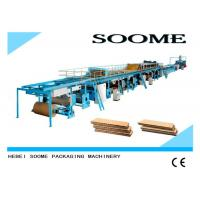 Buy cheap Different Ply Corrugated Cardboard Production Line Customized Rotary Cutting Type from wholesalers