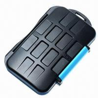 Wholesale Water-resistant Extremely Tough Memory Card Case for 4 CF and 8 SD Cards from china suppliers