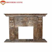 Buy cheap Luxury Polished White Natural Stone Fireplaces , Limestone Fireplace Surround from wholesalers