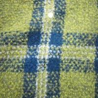 Buy cheap Wool Poly Blend Fabric Loop with Check Design product