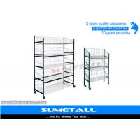 Buy cheap Multi Layer Metal Wire Shelving / Wire Display Rack With Wheels For Placing Foods from wholesalers