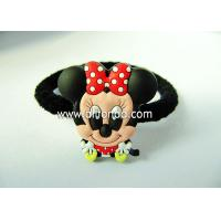 Wholesale Promotion bulk lady girls women hair ties hair holder with pvc 3d figures fashion hair accessory custom from china suppliers