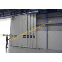 Buy cheap Multi Sector Structural Folded Hinged Sliding Doors Bottom Rolling Hangar Door Smart Track Design from wholesalers