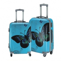 Wholesale Aluminum Trolley 0.8mm Polycarbonate Print Luggage Sets from china suppliers