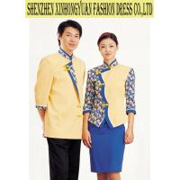 Buy cheap Yellow Women ' s And Men ' s Hotel Staff Uniforms , OEM Cotton Uniform With Various Colors from wholesalers