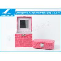 Buy cheap Professional Small Leather Gift Box Bright Pink Color For Women from wholesalers