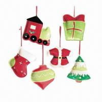 Wholesale Christmas Ornaments, Made of Porcelain, Customized Sizes are Accepted  from china suppliers