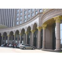 Buy cheap Brown Natural Building Stone Hand Carved  Roman Marble Columns For Hotel from wholesalers