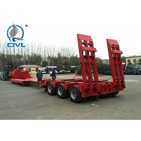 Buy cheap 3 Axles 60T Lowbed Truck Semi Trailer Trucks With Ladder / Ramp from wholesalers