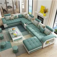 Buy cheap Fabric sofa modern minimalist small apartment sofa living room furniture removable washable sofa combination from wholesalers