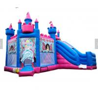 Buy cheap Princess Inflatable Bounce House Combo / Jumpy House With Slide OEM Service from wholesalers