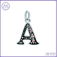 Buy cheap Fashion metal bracelet letter dangle charms 26 letters dangle charms from wholesalers