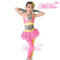Buy cheap Zebra Hip Hop Dance Costumes Sequin Vest Two Color Lycra Pants For Girls from wholesalers